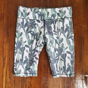 Cactus Print Bicycle Shorts